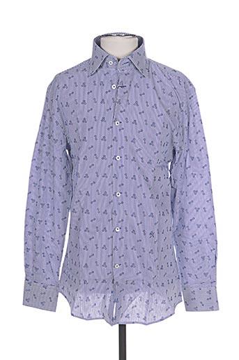 Chemise manches longues bleu STONES pour homme