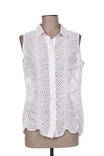 valerie khalfon chemises femme de couleur blanc
