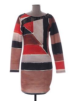 Robe courte marron DANIELA COOL pour femme