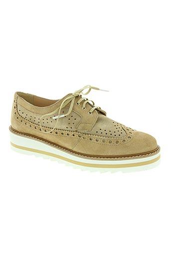 maria jaen chaussures femme de couleur beige
