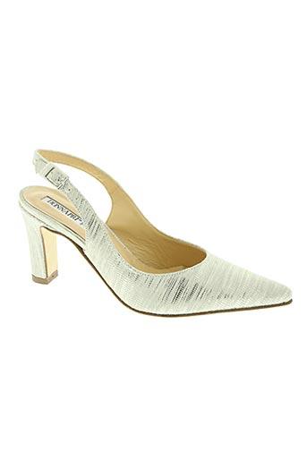 donna piu chaussures femme de couleur gris