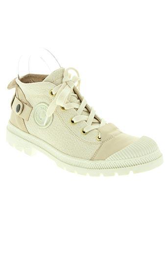 pataugas chaussures femme de couleur beige