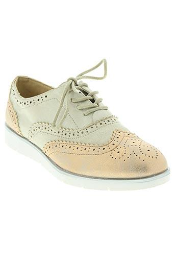 linea supremo chaussures femme de couleur beige