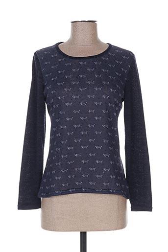 T-shirt manches longues bleu COTE ANGLAISE pour femme