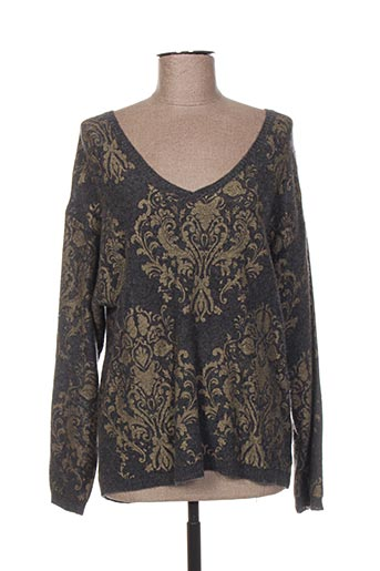 Pull col V gris HOTEL PARTICULIER pour femme