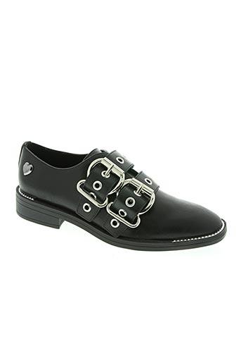 my twin chaussures femme de couleur noir