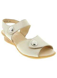 Sandales/Nu pieds beige HIRICA pour femme