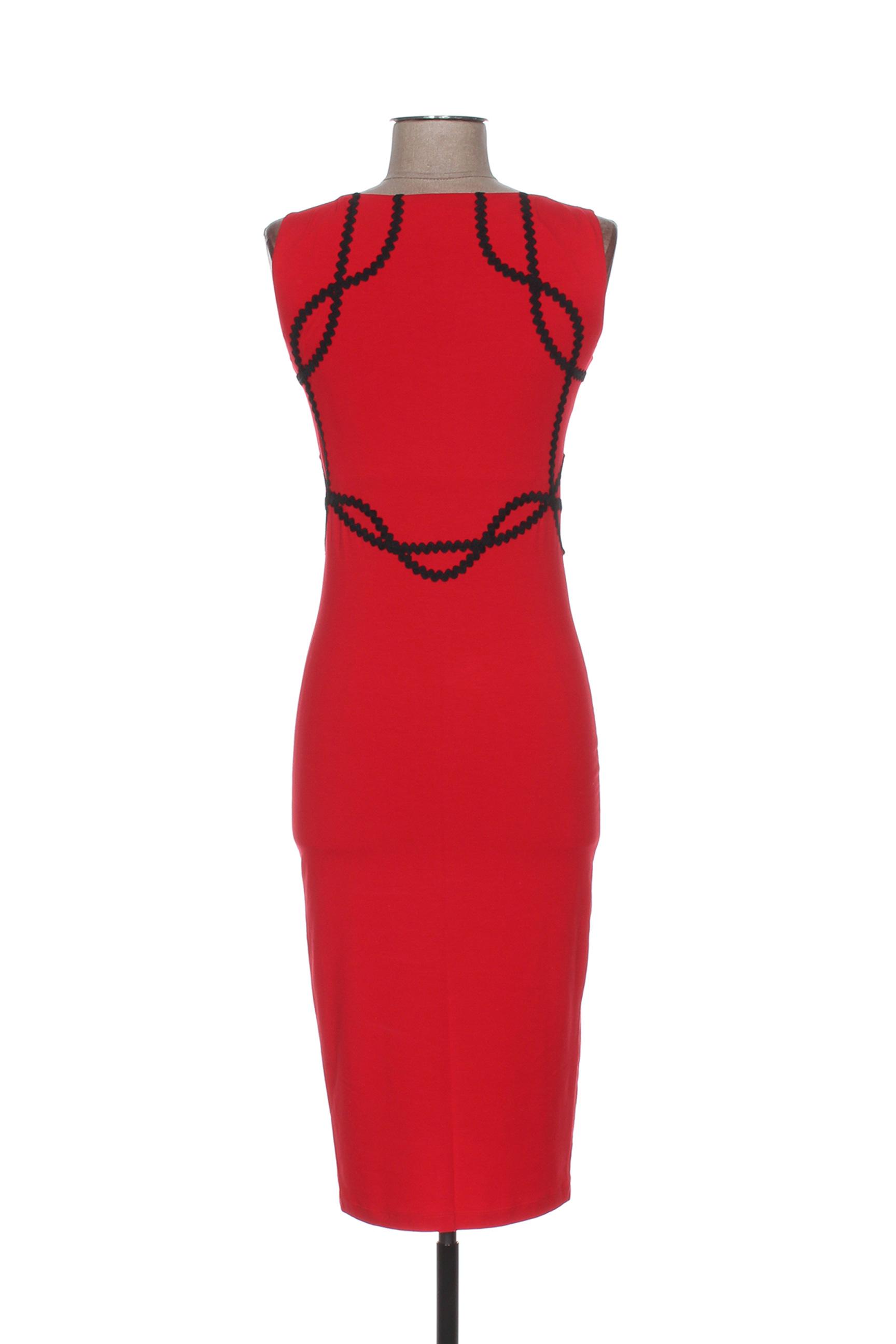 Isabel De Pedro Robes Mi Longues Femme Couleur Rouge En Soldes Pas Cher 1283313-rouge0