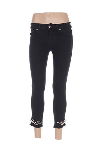 Pantalon 7/8 noir MANILA GRACE pour femme