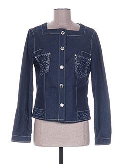 Veste en jean bleu WEINBERG pour femme