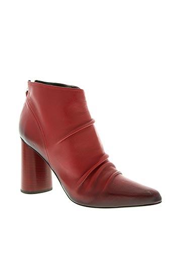 halmanera chaussures femme de couleur rouge