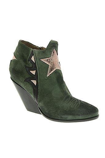 area forte chaussures femme de couleur vert