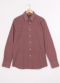 Chemise manches longues rouge GUESS BY MARCIANO pour homme