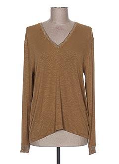T-shirt manches longues marron AN' GE pour femme