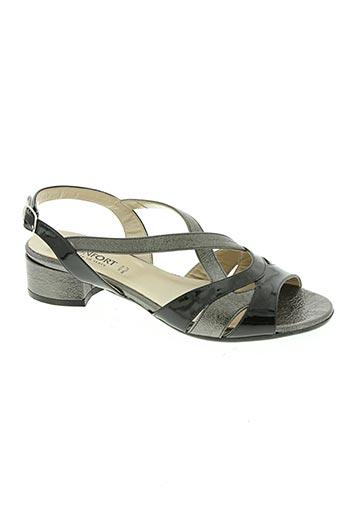 Sandales/Nu pieds noir CONFORT pour femme