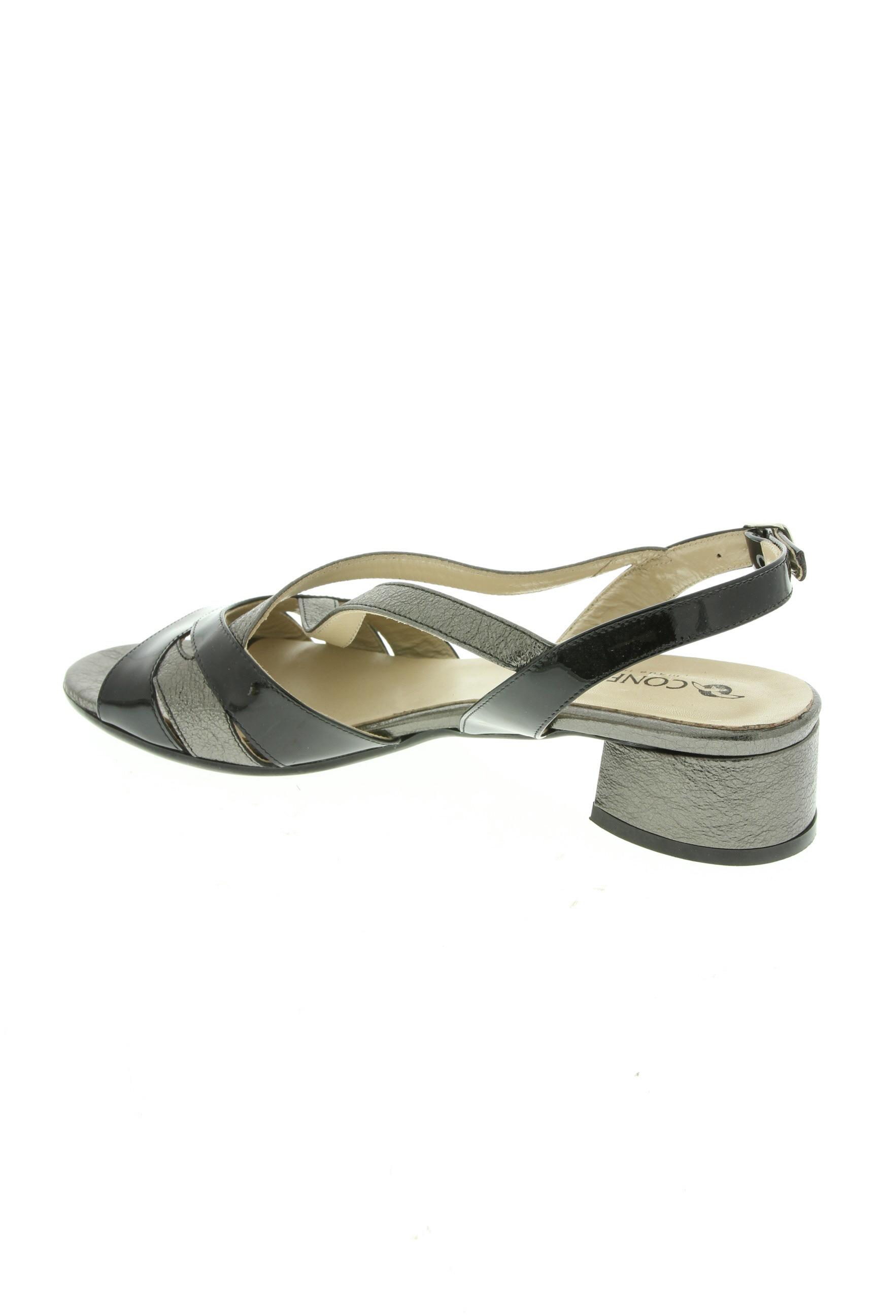 Confort Sandales Nu Pieds Femme De Couleur Noir En Soldes Pas Cher 1290321-noir00