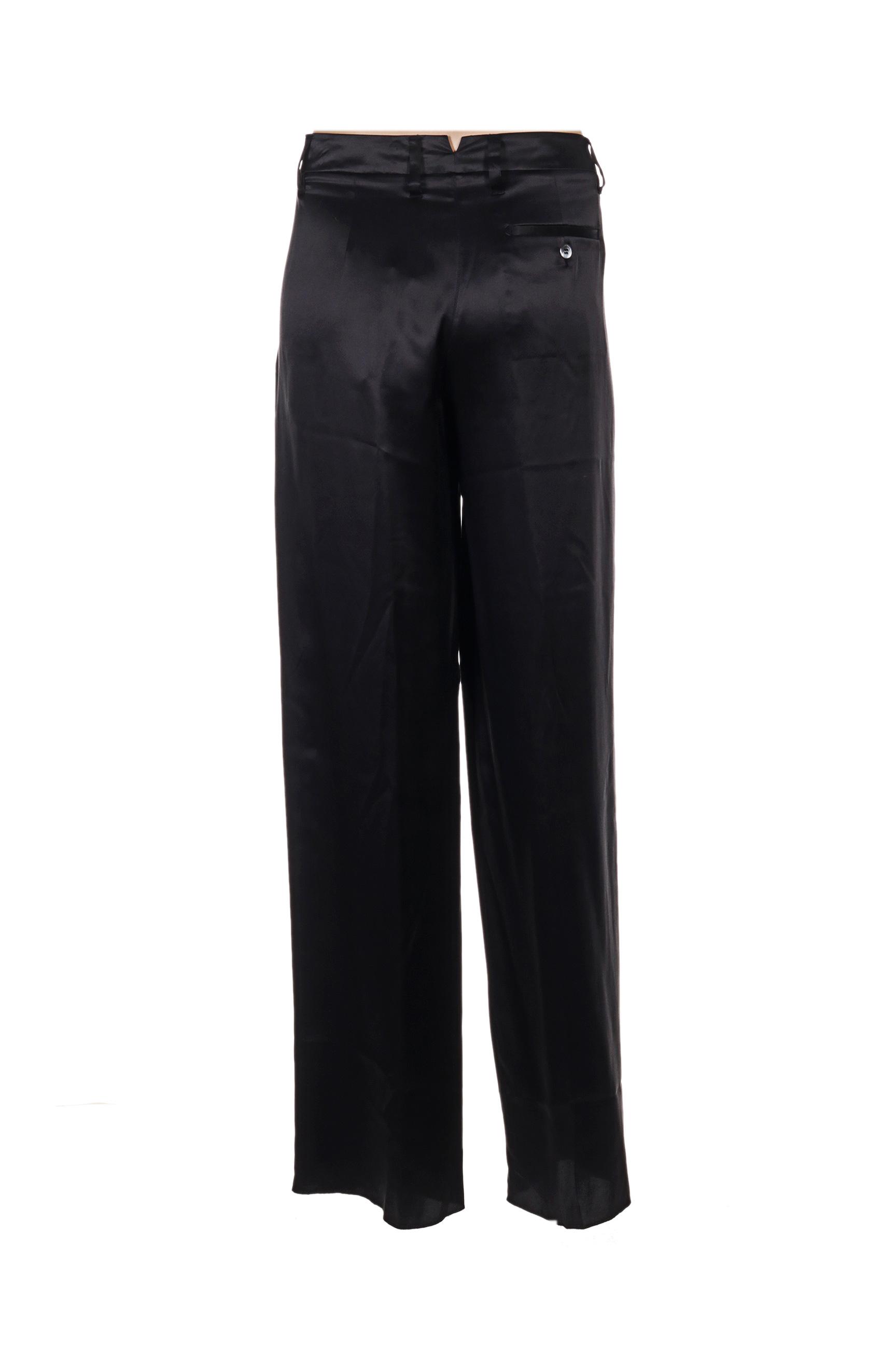 Maxmara Pantalons Citadins Femme De Couleur Noir En Soldes Pas Cher 1276083-noir00