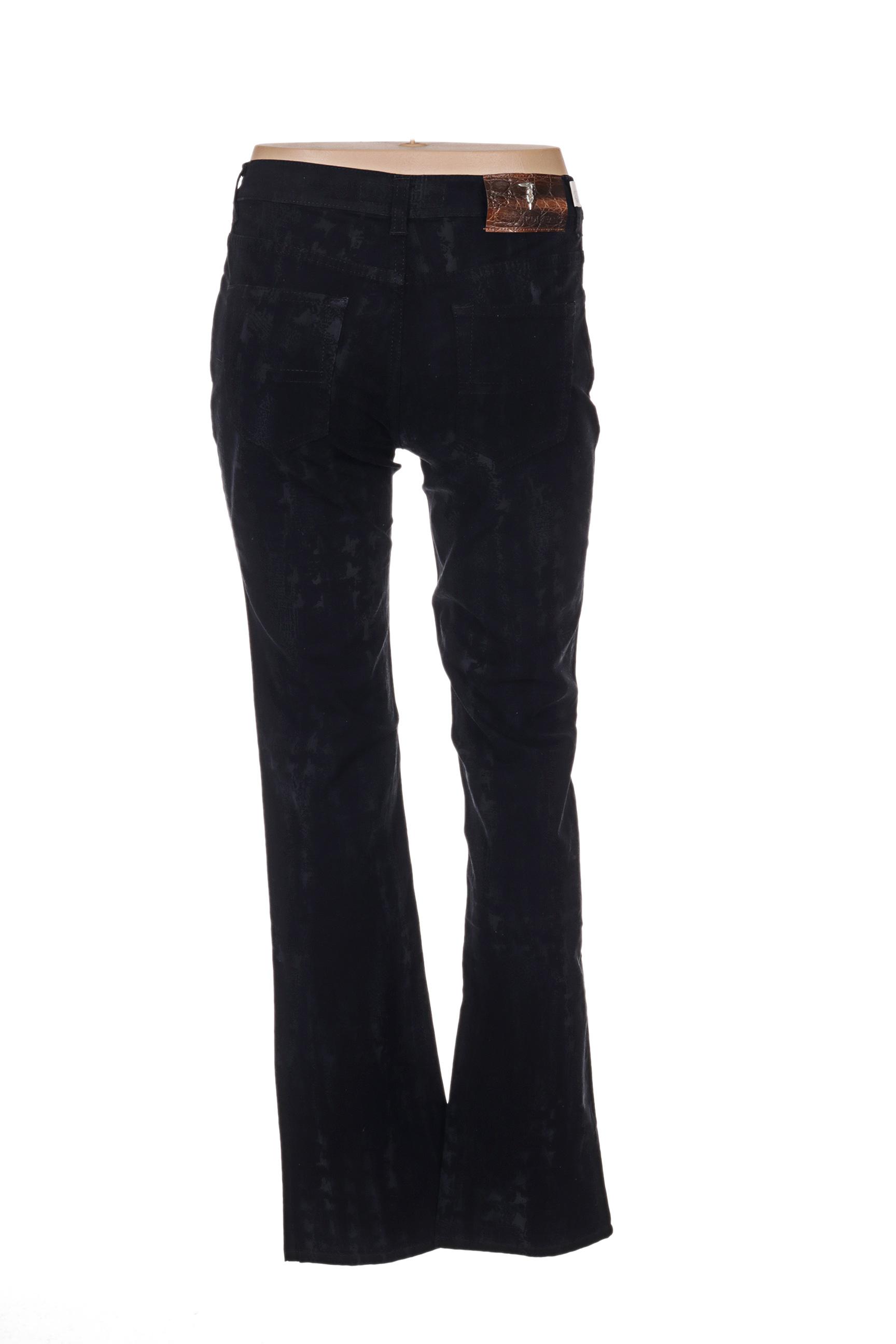 Trussardi Jeans Pantalons Decontractes Femme De Couleur Noir En Soldes Pas Cher 1276443-noir00
