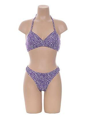 Maillot de bain 2 pièces violet D NU D pour femme