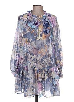 Tunique manches longues violet EMAMO pour femme