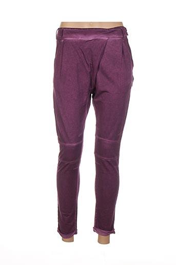 Pantalon casual violet FRENCH TERRY pour femme