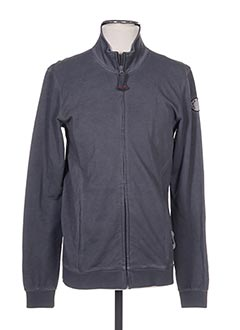 Veste casual gris FRENCH TERRY pour homme