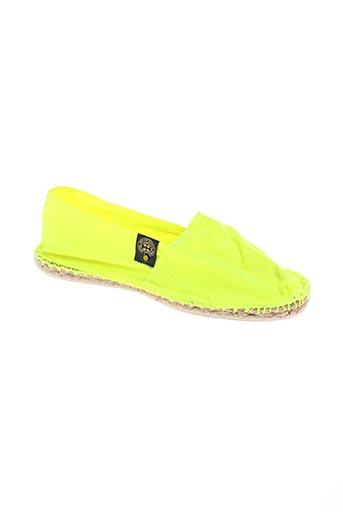 art of soule chaussures femme de couleur jaune