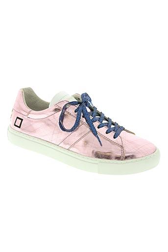 date chaussures femme de couleur rose