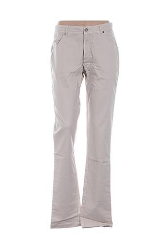 Pantalon casual beige VESTIAIRES PRINCIPAUTE CANNOISE pour homme