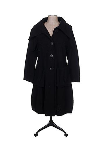Manteau long noir COMPLETO pour femme