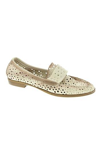 bisous confiture chaussures femme de couleur beige