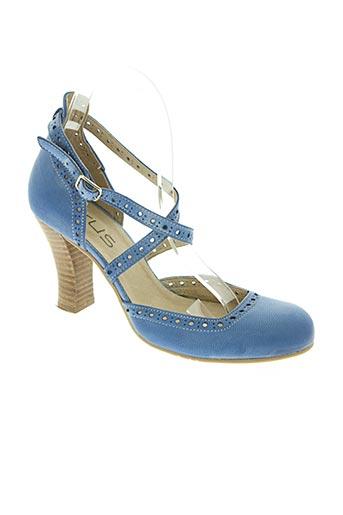 virus chaussures femme de couleur bleu