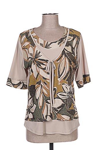 T-shirt manches courtes beige ANNA MUR pour femme