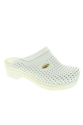 natural clogs chaussures femme de couleur blanc