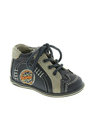 dkp chaussures garçon de couleur bleu