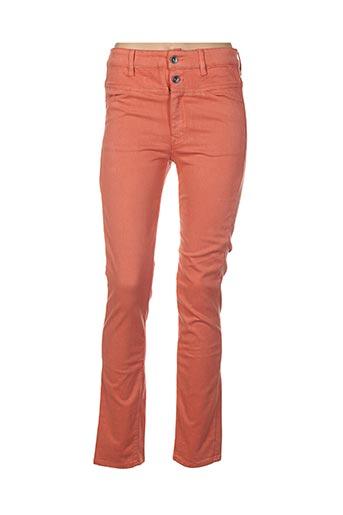 Jeans coupe slim rose COUTURIST pour femme