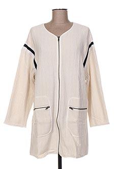 Manteau long beige CUSTOMMADE pour femme