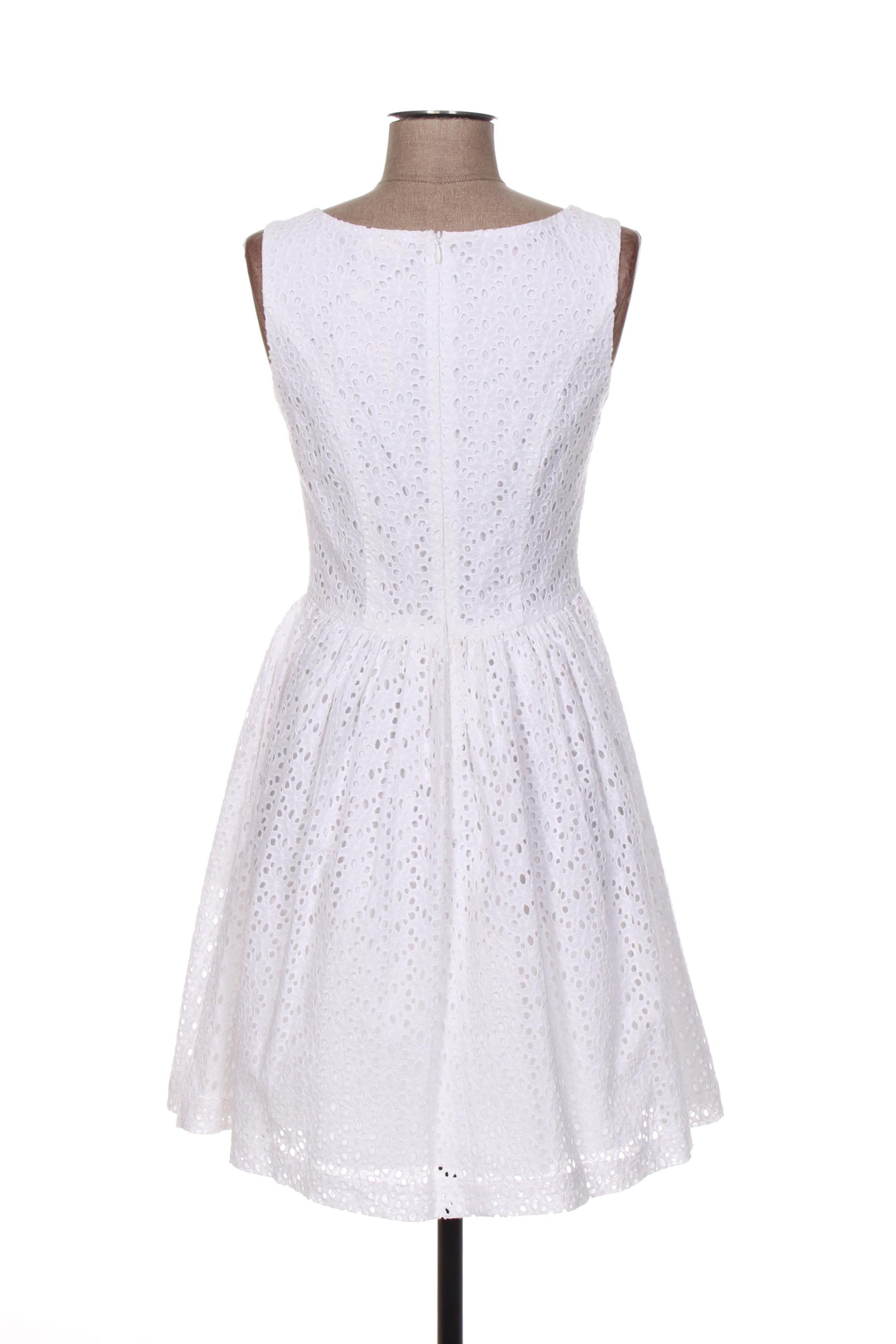 Jumper Fabriken Robes Courtes Femme De Couleur Blanc En Soldes Pas Cher 1270461-blanc0