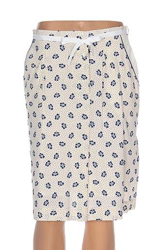 Jupe mi-longue bleu GAËLLE BARRE pour femme