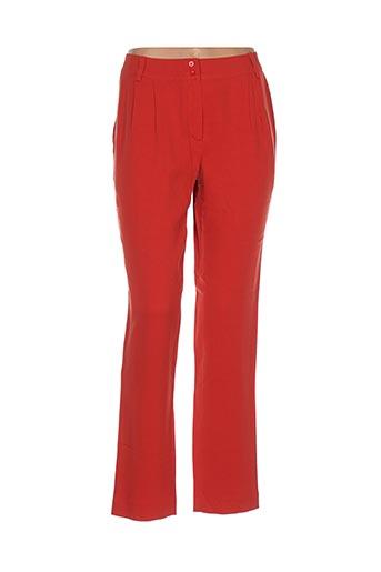 Pantalon casual rouge GAËLLE BARRE pour femme