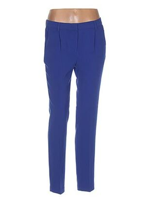 Pantalon chic bleu EDITH ET ELLA pour femme