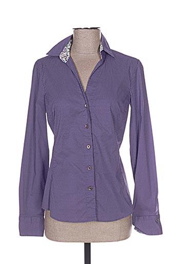 Chemisier manches longues violet CALIBAN pour femme
