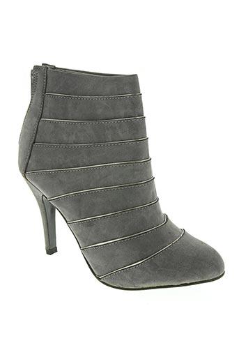 top or chaussures femme de couleur gris