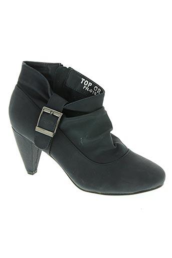 top or chaussures femme de couleur bleu