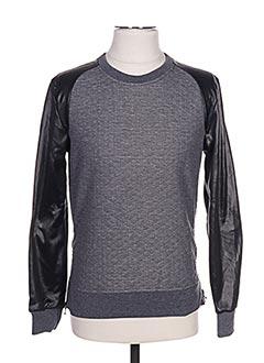 Sweat-shirt gris GOV DENIM pour homme