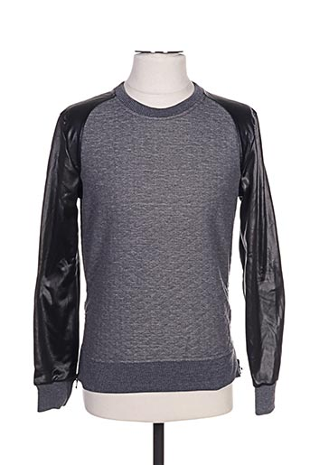 Sweat-shirt gris GOV DENIM pour homme