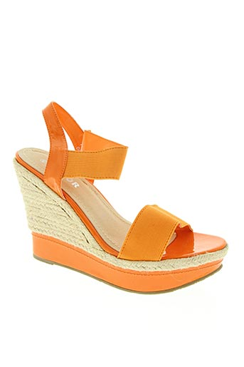top or chaussures femme de couleur orange
