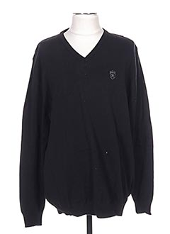 Pull col V noir ARISTOW pour homme