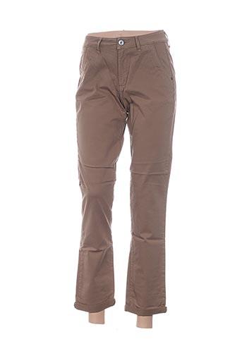 Pantalon casual beige TBS pour homme