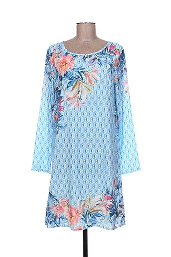 Robe courte bleu EXQUISS'S pour femme